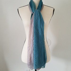 Scarf Women's Turquoise & Gray Ombre Flowy